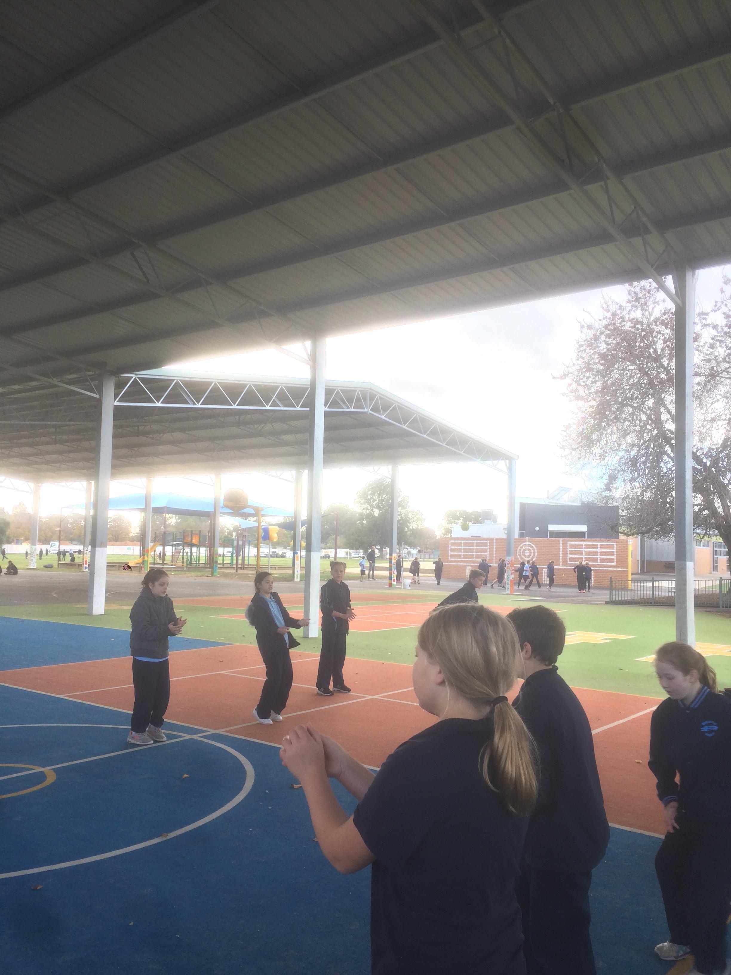 Downball is a popular Grade 4 activity!