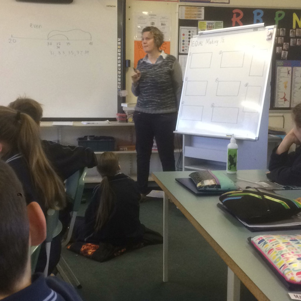 Explicit teaching about the half fraction