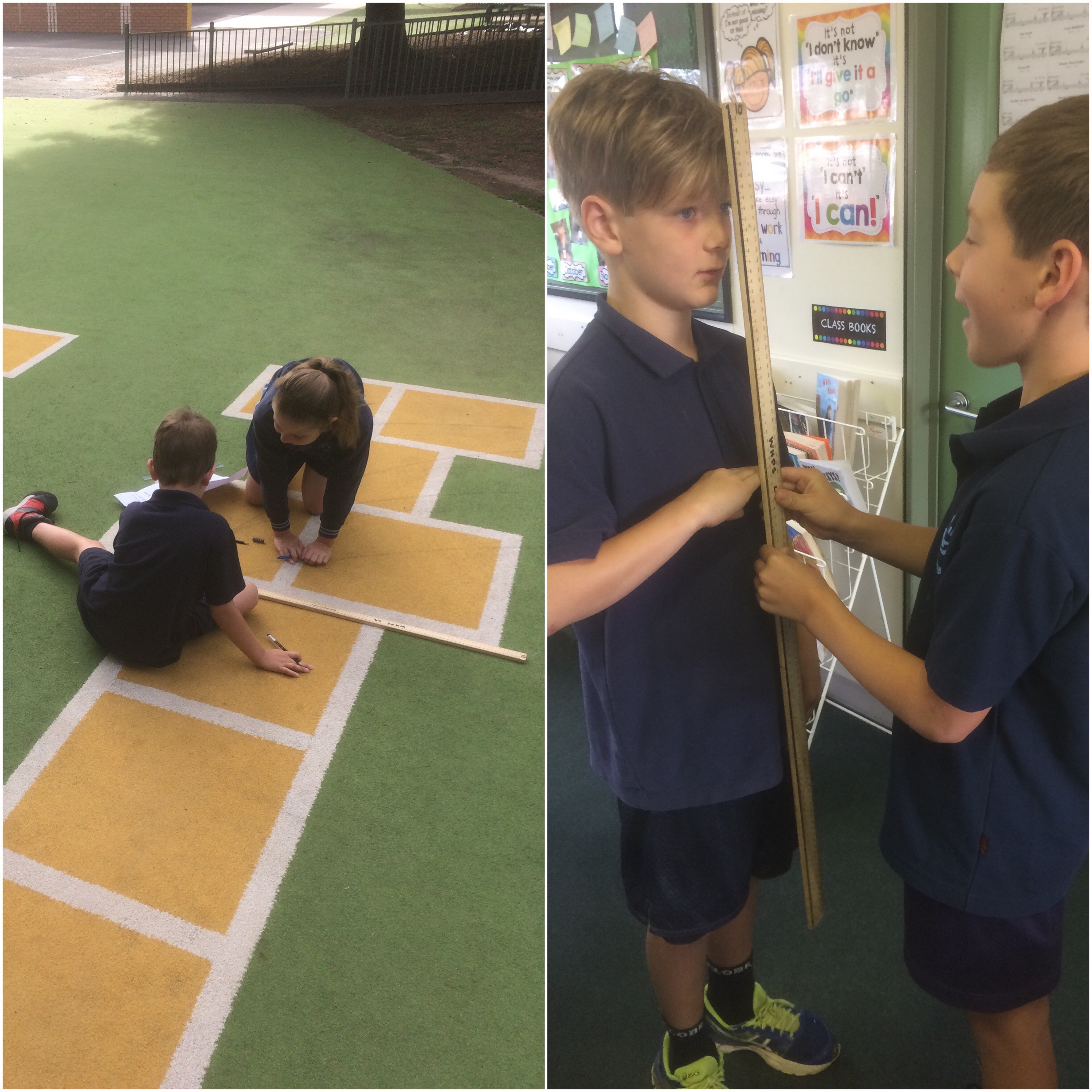 Measuring with friends, real world activities